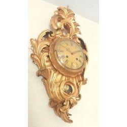 Antiguo reloj sueco de pan de oro