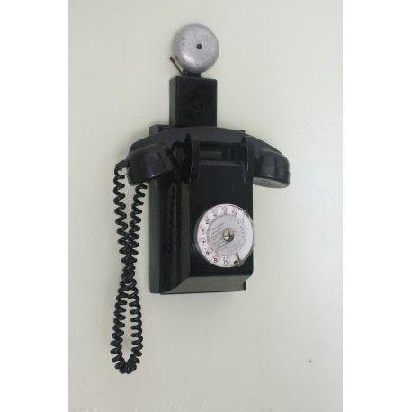 Antiguo teléfono de baquelita,de francia, en excelente estado