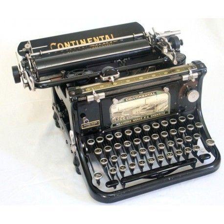 Antigua Máquina de Escribir Continental Standard, Alemana, de los Años 1.910