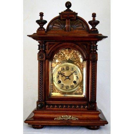 Antiguo reloj de sobremesa, Bracket de Junghans Con Sonería de origen alemán, de los años 1900 y funcionando