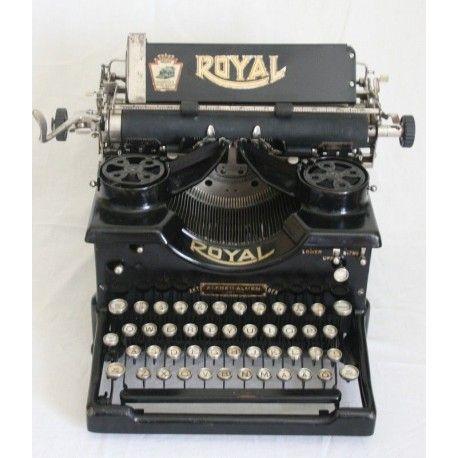 Antigua Máquina de Escribir Royal 10 en Perfecto Estado de origen Americano de los Años 1930.