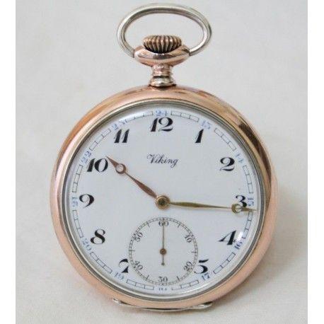 Antiguo reloj de bolsillo de Viking y funcionando
