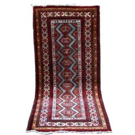 Antigua Alfombra persa de lana y seda.