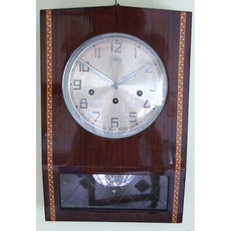Reloj cl sico de pared con p ndulo y toca los cuartos - Reloj cuarto de bano ...