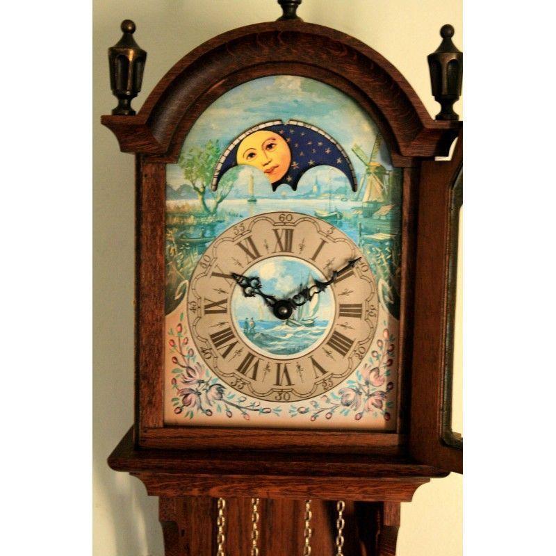 Antiguo reloj de pared de origen holandes funcionando for Relojes de pared antiguos precios