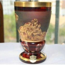 ANTIGUA COPA DE BOHEMIA ERWI GLASS