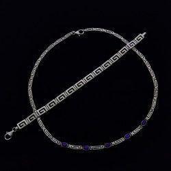 Elegante collar con su pulsera en plata de 925.