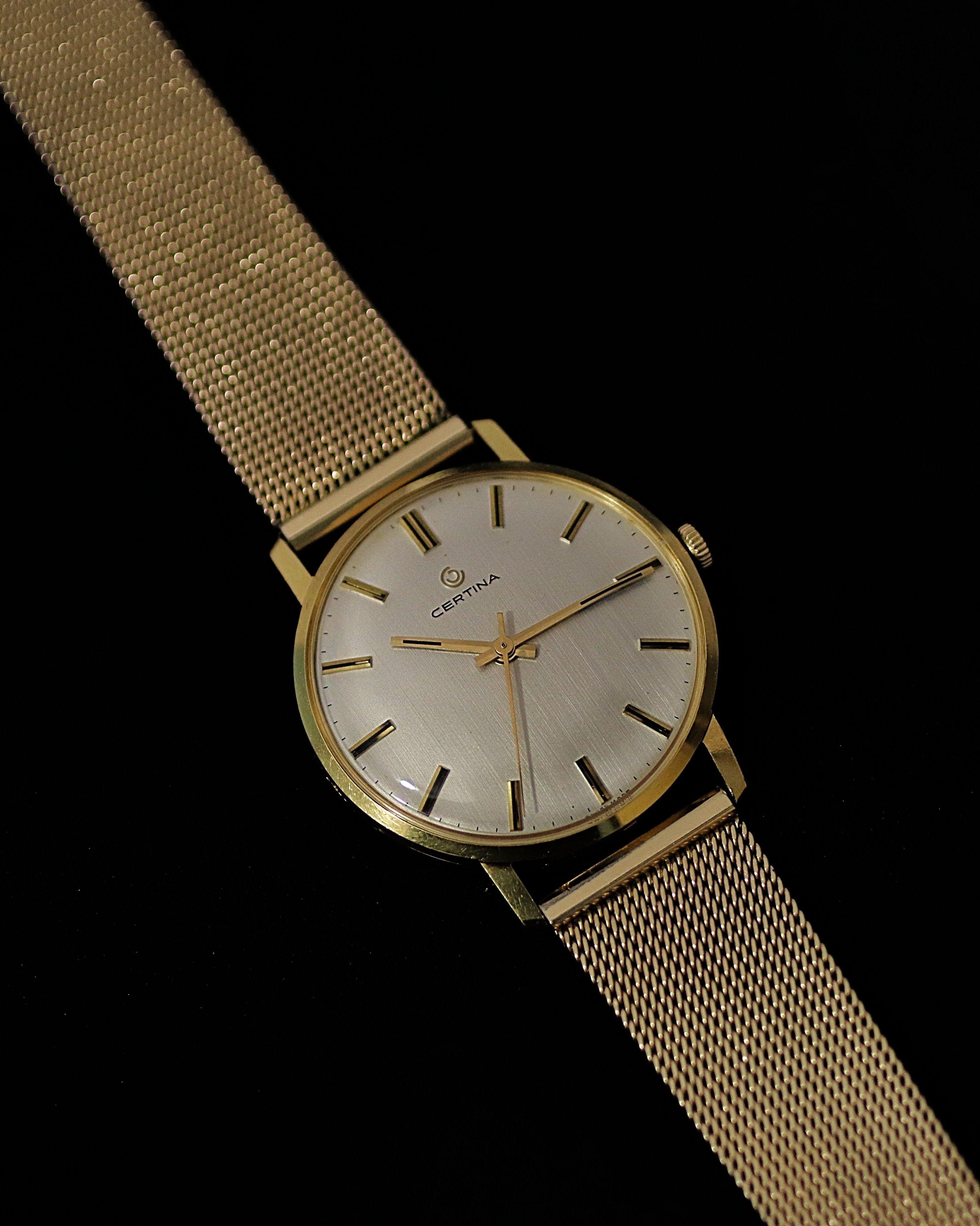 La PulseraOro De Precioso Certina Suizo 18k Marca Reloj yON8mnwv0