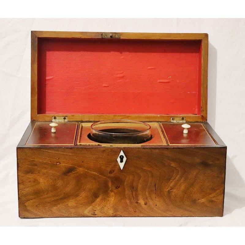 Antigua caja de madera escribania inglesa for Antiguedades de oficina