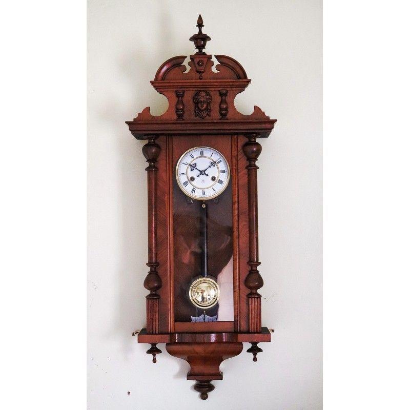 Antiguo reloj de pared alfonsino de la casa junghans de - Relojes de pared ...