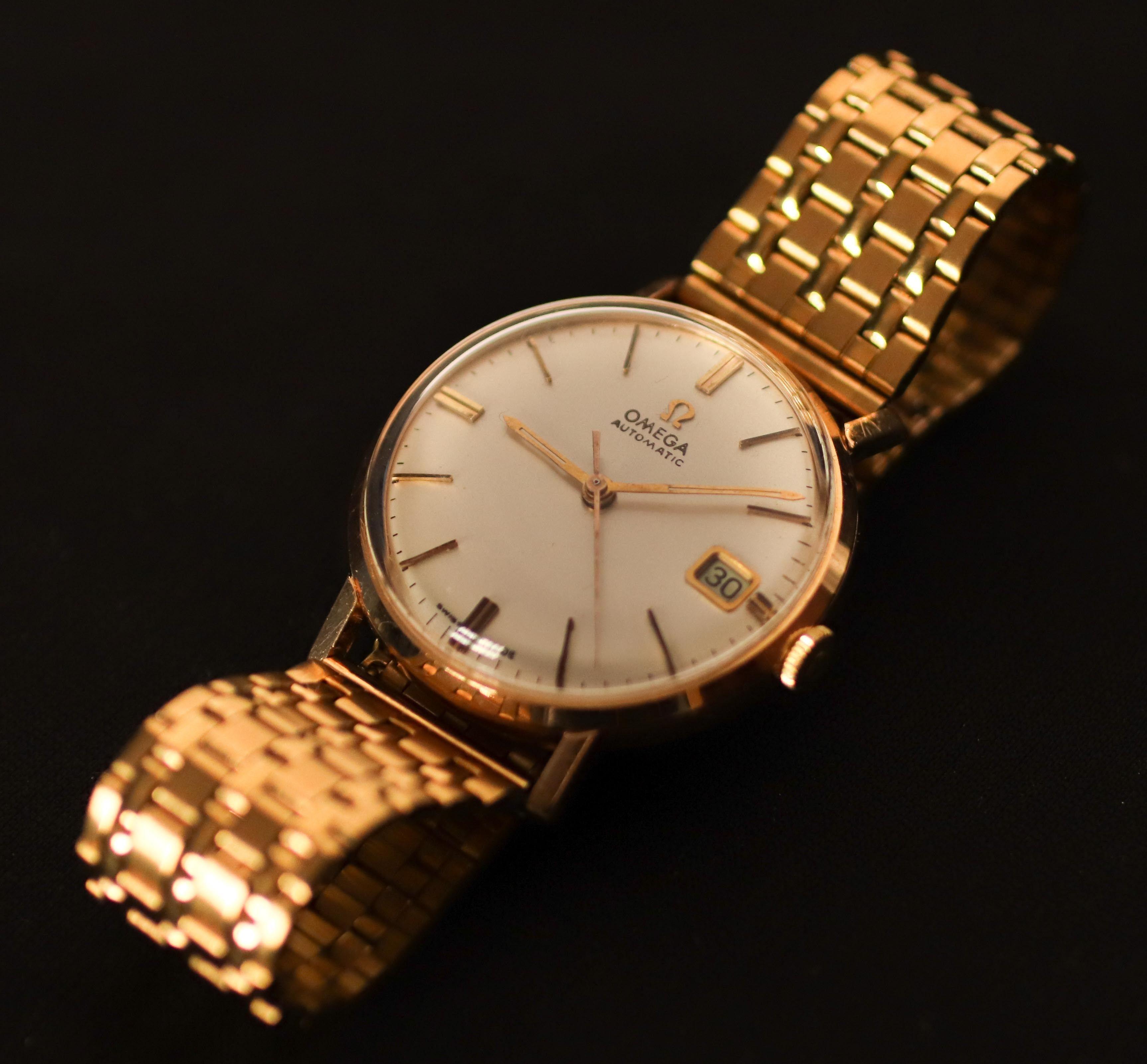 clásico ofertas exclusivas tienda de liquidación Reloj antiguo de origen suizo omega, en oro de 18k funcionando