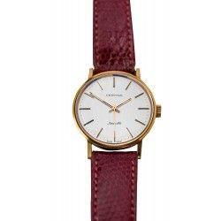 Precioso reloj de pulsera, de oro 18K de la marca Certina de origen suizo, de los años 1970.
