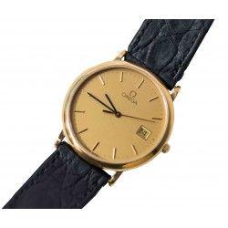 Elegante reloj de pulsera para caballeros de la marca Omega en perfecto estado de conservación y de funcionamiento.