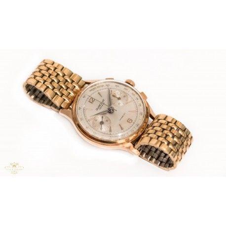 3b5e4d2ef3b7 Reloj de pulsera, oro 18k, de origen suizo del fabricante Leuba Louis,
