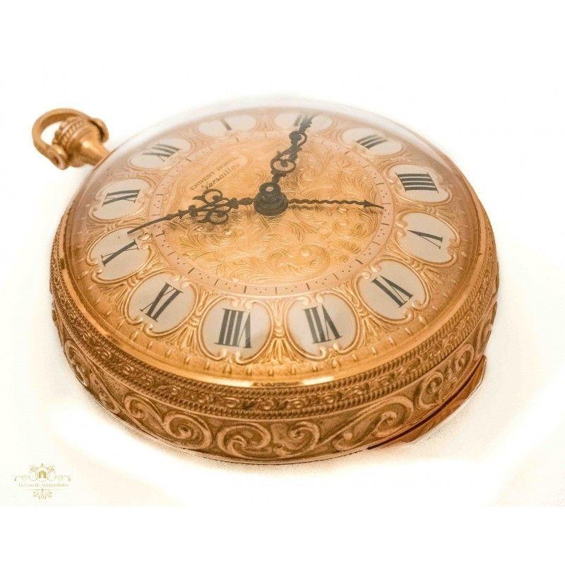 e7162ec6d ... Reloj de bolsillo con sonería de origen suizo, Ernest Borel Versaille,  funcionando ...