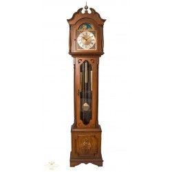 Espectacular reloj de antesala, de pie, con cuerdas manuales, y funcionando a la perfección.
