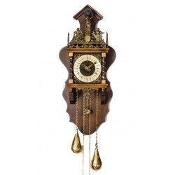 Bonito reloj holandes, con pesas pendulo, funciona perfectamente