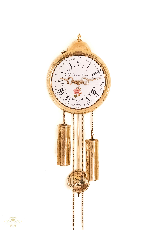 877115110723 Antiguo reloj de péndulo y pesas