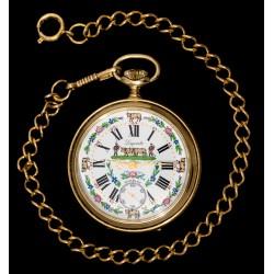 Antiguo reloj de bolsillo, de origen suizo, de la marca Lagonda y funcionando.