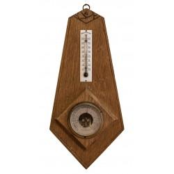 Antiguo termómetro barómetro de origen francés de los años 1900.