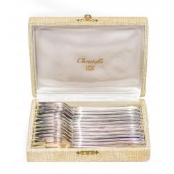 Elegante caja de tenedores de diseño, de la marca Christofle.
