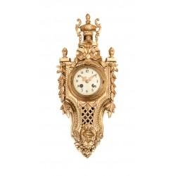 Antiguo reloj de cartel, de los años 1900, de la casa Japy Freres, en excelente estado.