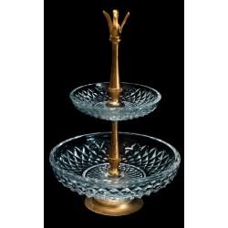 Precioso centro de mesa en cristal de la marca Val San Lambert