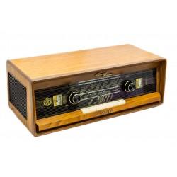 Antigua radio alemana de la marca Luxor,stereo de los años 1950 y funcionando.
