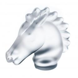 Precioso caballo de cristal Sevres, de origen francés