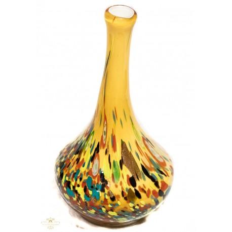 Estupendo florero murano, origen Italia, elaborada y pintada a mano