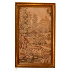 Antiguo tapiz gobelino de origen francés.