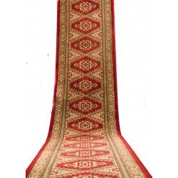 Alfombra antigua de lana pura para pasillos o para escaleras.