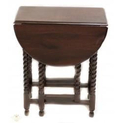 Estupenda mesa antigua de origen ingles, redonda con alas plegables.