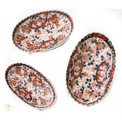 Antiguos platos en porcelana Imari.
