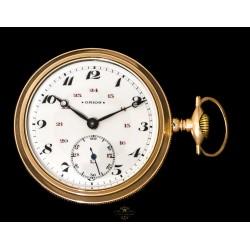 Antiguo Reloj de Bolsillo de cuerda manual Americano de origen y funcionando