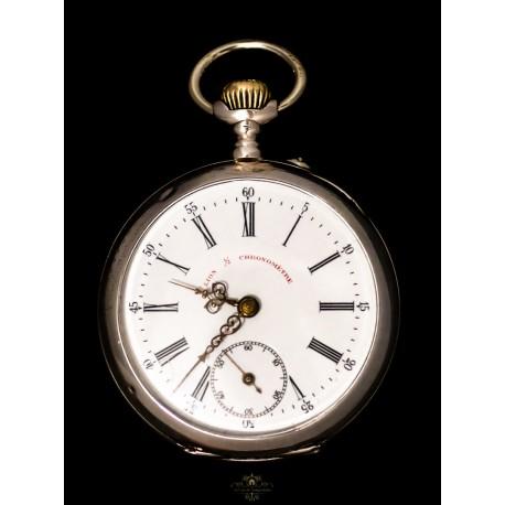 Antiguo reloj de bolsillo de Lion francés y funcionando