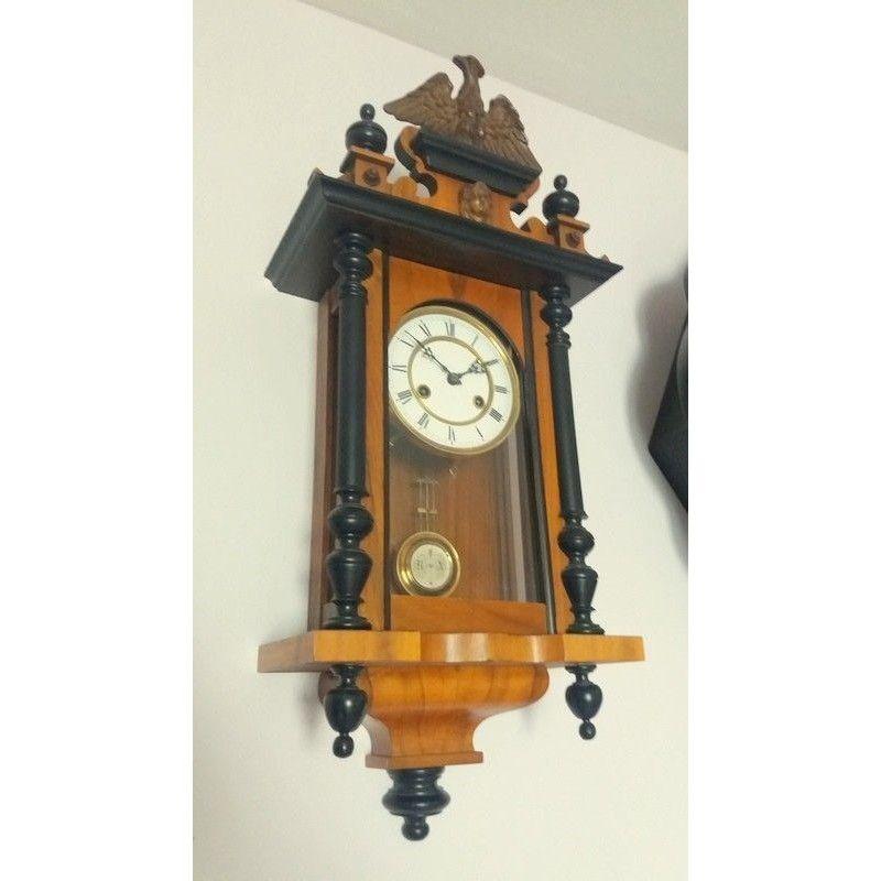 Antiguo reloj de pared junghans la casa de antiguedades - Reloj pintado en la pared ...