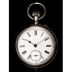 Antiguo reloj de bolsillo de origen francés y funcionando