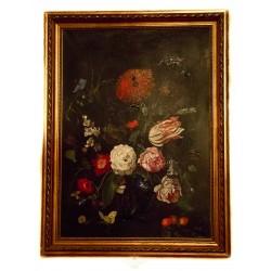 Antiguo cuadro de colección, pintado a mano sobre óleo, de los años 1930