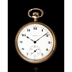 Reloj de bolsillo, de cuerda, ELGIN,de los años 1920, funcionando perfectamente