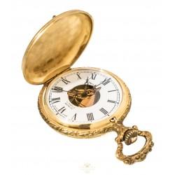 Reloj de bolsillo, cuerda manual, de origen suizo y funcionando.