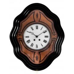 Antiguo reloj francés ojo de buey, con sonería , y funcionando