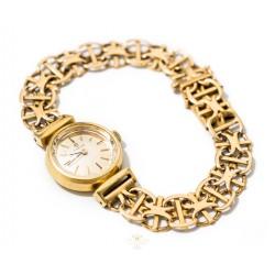 Espectacular reloj de oro para mujer, de cuerda manual de la marca OMEGA, funcionando perfectamente.