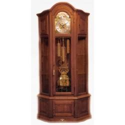 Impresionante reloj de pie, de los cuartos, en excelente estado de funcionamiento, con sonería Winsminster y fase lunar