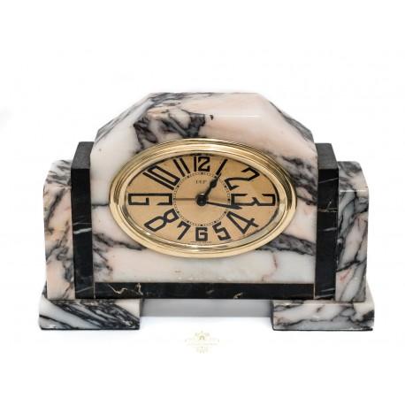 Antiguo reloj Art Deco despertador de sobremesa de cuerda manual y funcionando