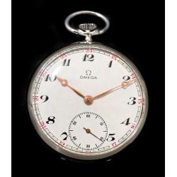 Antiguo reloj de bolsillo, de origen suizo , de Omega, funcionando