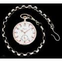 Antiguo reloj de bolsillo Longines de origen suizo y funcionando de los años 1890
