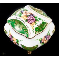 Antiguo cofre joyero de porcelana francesa Limoge