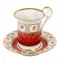 Antigua taza con su plato de porcelana Bavaria original de alemania.