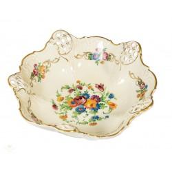 Espectacular plato antiguo de porcelana pintado a mano de origen alemán Rosenthal .
